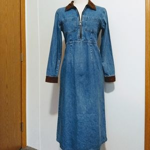 Talbots denim long sleeve dress